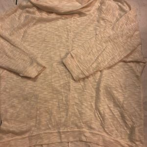 Large- Old Navy Sheer Ivory 3/4 pullover